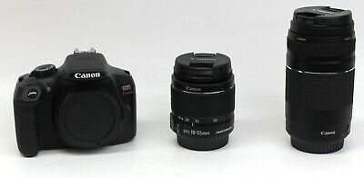 Canon EOS Rebel T6 DSLR Camera with 18-55mm & 75-300mm Lenses #T6BUNDLE