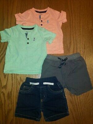 Carter's Baby Boy Outfits Shorts And Tees Size 12 Months
