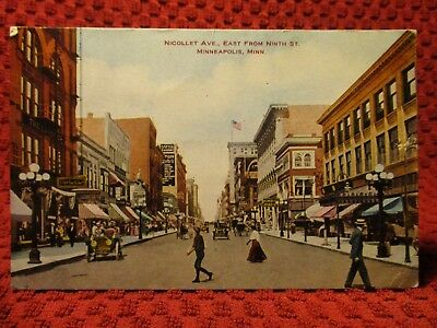 Early 1900'S. Nicollet Ave. Minneapolis, Minnesota. Postcard. K12