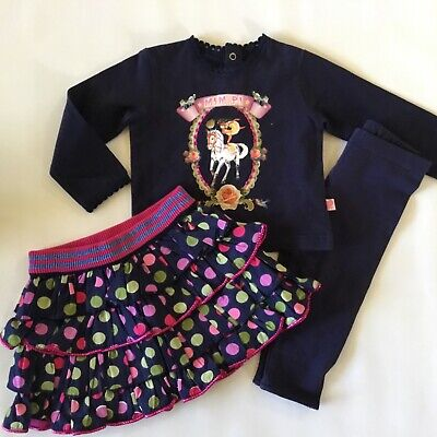 NWOT Mim-Pi Circus Show Size 9 months baby outfit- skirt, shirt, leggings