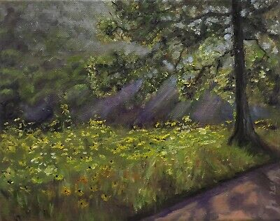 "Original oil painting, Landscape, SUMMER ROADSIDE,  8x10"" Schelp"