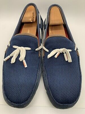 4eba2abf864df SWIMS - Lace Up Loafer - Men's Size 9 - Navy Blue Rubber & Mesh Loafer