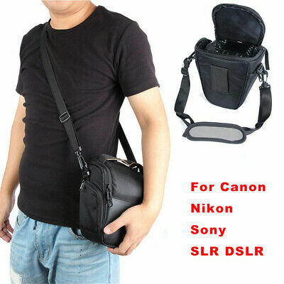 Triangle  Waterproof Black Camera Case Shoulder Bag Backpack for Nikon SLR DSLR
