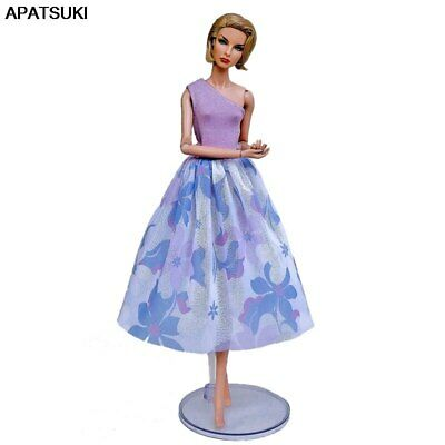 "Purple Blue Fashion Doll Clothes For 11.5"" Doll Outfits Gown Top Midi Skirt 1/6"