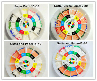 1Pack Dental Endodontic Gutta Percha Absorbent and Paper Points 15-80 Mixed