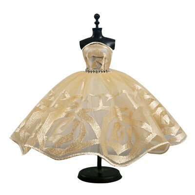 "Light Yellow Fashion Tutu Dress For 11.5"" 1/6 Doll Outfits Party Dresses Clothes"