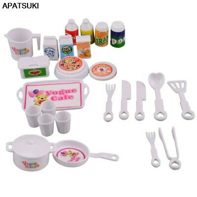 """25Pcs Doll Accessories For 11.5"""" 1/6 Dollhouse DIY Playhouse Mini Kitchen Puzzle"""