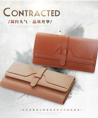 Wallet for Women Leather Slim Clutch Long Trifold Ladies Credit Card Holder USA