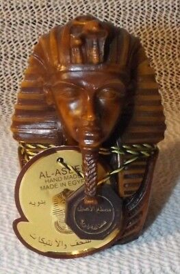 AL ASEEL Egyptian Horemheb Pharaoh Statue w/ Chest Shield  -  w/Tag & Medallion