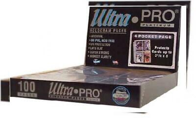 "Ultra Pro 4-Pocket Platinum Page with 3-1/2"" X 5"" Pockets 100 ct."