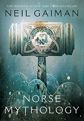 Norse Mythology by Neil Gaiman (English) Paperback Book Blue Edition!