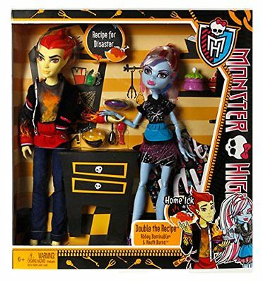 Monster High Doll Classroom HOME ICK Abbey Bominable & Heath Burns 2-Pack - New!