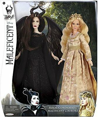 AURORA and MALEFICENT Royal Coronation Doll - Disney 2-pack - New!