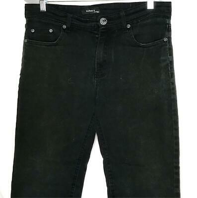 Black Boys 12 Regular Jeans Faded Glory Denim Pants Classic 100% Cotton