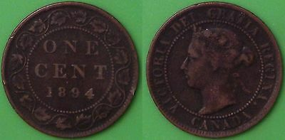 1894 Canada Large Penny Graded as Fine
