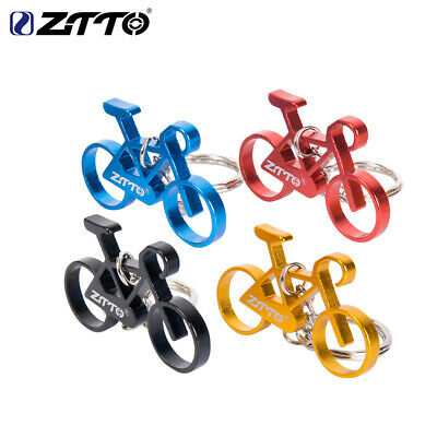 Mini Alloy Bicycle Bike Model Key Pendant Keychain Black / Yellow / Red / Blue