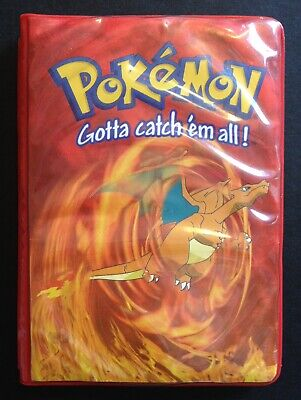Charizard Pokemon Mini Binder Folder 11 Pages Open Out RARE 2000 Original