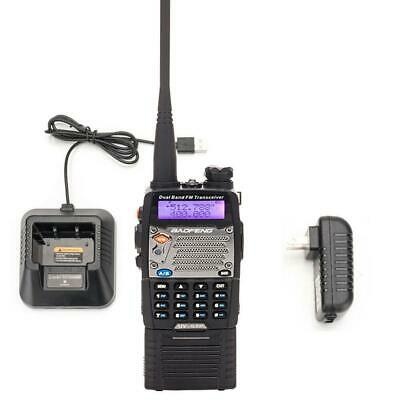BAOFENG Two Way Radio UV-5XP 8W USB Dual-band Semi-duplex Black + Headsets
