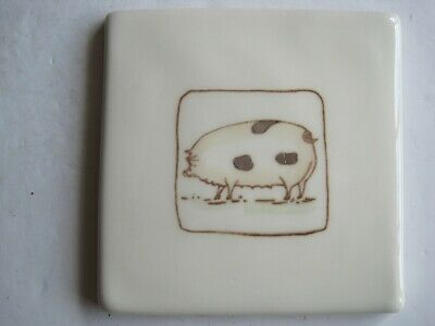 VINTAGE WINCHESTER 105 mm ON THE FARM TILE- POLLY PIG