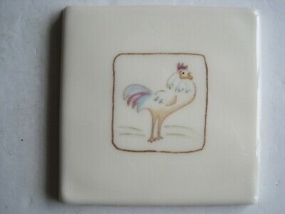 VINTAGE WINCHESTER 105 mm ON THE FARM TILE - CUTHBERT COCKEREL