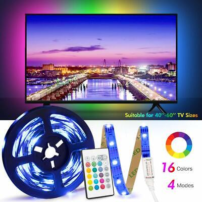 USB 1M-4M Light RGB Color 5050 LED Strip Lights TV Backlight + Remote Control