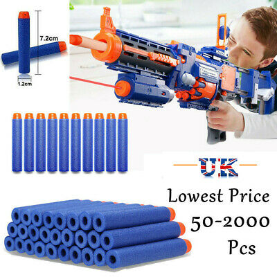 2000Pcs Gun Soft Refill Bullets Darts Round Head Blasters For Nerf N-Strike Toy