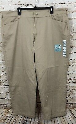 Lee pants womens 24W Petite relaxed fit khaki beige new easy care D7