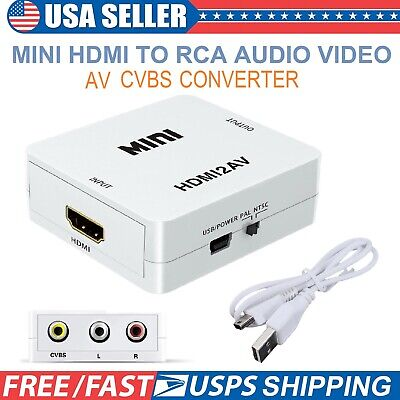HDMI to AV Converter Composite RCA CVBS 1080P Adapter Audio Video HDTV DVD