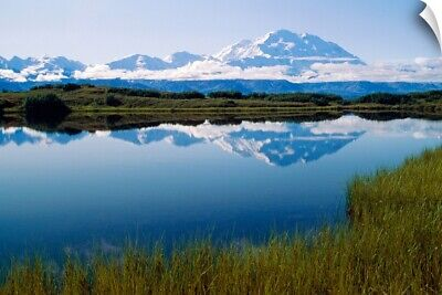 """Mt McKinley Reflected in Tundra Pond Denali NP AK"" Wall Decal"