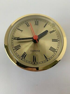 Quartz Clock Movement Gold Face Hobbist/Ceramist New
