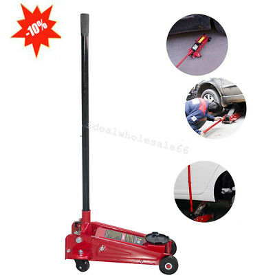 USA Stock 3 Ton Floor Jack Stands Ultra Low Profile Heavy Duty Steel, Quick Lift