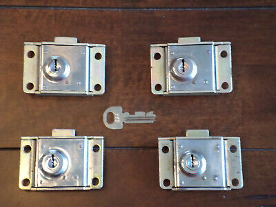 4 RARE Western Electric Payphone Vault & Housing Locks Pay Phone Telephone Parts