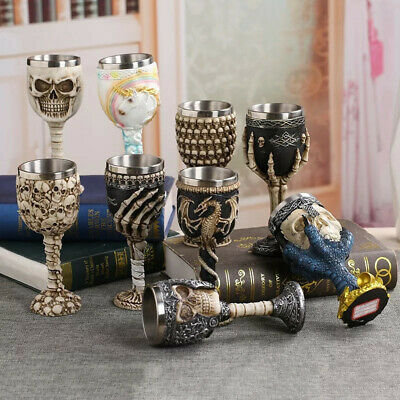 Coolest Gothic Skull Goblet Retro Claw Wine Glass Cocktail Glasses Whiskey Cup