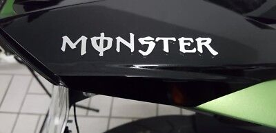 Monster Aufkleber 2x 13,5x2cm Sticker Tuning Turbo Kawasaki Yamaha Honda KTM