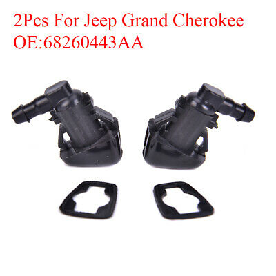 2X Windshield Wiper Washer Sprayer Nozzle For Jeep Grand Cherokee 68260443AA FF