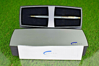 Cross Chrome and Gold  Ball Pen NEW Medalist With Case And Instructions