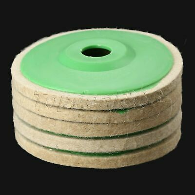 "5"" Woodwork Buffing Tool Abrasive Sanding Disc Wool Felt Polishing Wheel Pad UK"