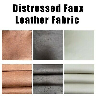 Distressed Faux Leather Upholstery Fabric Material High Quality Craft FR BS7177