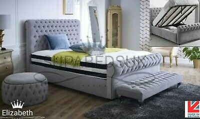 Phenomenal Esme Fabric Ottoman Storage Bed Frame Chesterfield Modern Dailytribune Chair Design For Home Dailytribuneorg