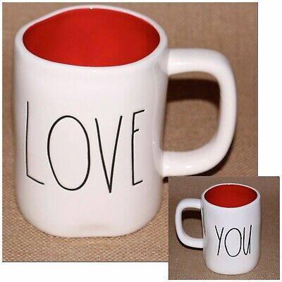 Rae Dunn by Magenta LL LOVE YOU Double-Sided Mug w/RED Interior