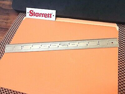 "STARRETT No.603RE 12"" Long Semi-Flexible Steel Rule With 4R & End Graduation."
