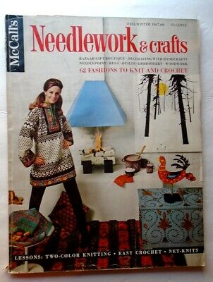 Vintage 1967 KNITTING CROCHET 62 Retro Patterns McCalls Needlework & Crafts