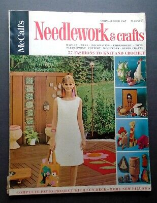 Vintage 1967 KNITTING CROCHET 57 Retro Patterns McCalls Needlework & Crafts