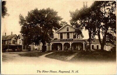 EARLY 1900'S. THE RIVER HOUSE. RAYMOND, N.H. POSTCARD t7