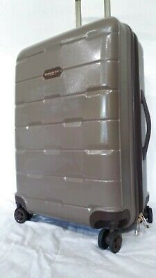 "$240 London Fog Brentwood 24"" Hardside Spinner Suitcase Luggage Champagne"