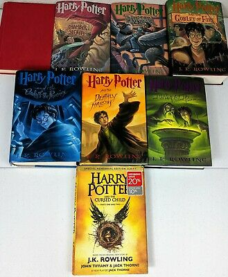 Harry Potter Books 1-7 plus The Cursed Child by J. K. Rowling. All HARDCOVER