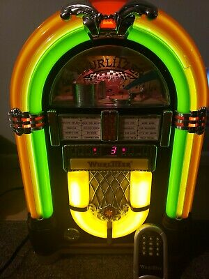 WURLITZER WR18 BUBBLER Jukebox FM/CD Compact Disc Player Radio with