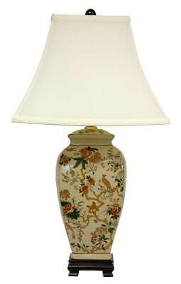 Autumn Birds and Flowers Vase Lamp [ID 3294448]