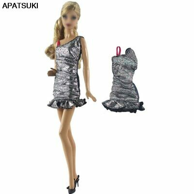 """Silver Fashion Short Dress For 11.5"""" 1/6 Doll Clothes Outfits Party Gown Kid Toy"""