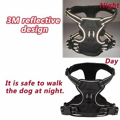 No-pull Dog Pet Harness Reflective Outdoor Safety Vest Jacket Padded Handle IW